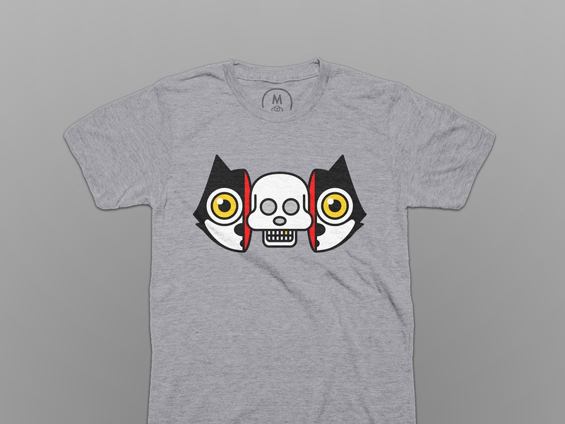 Split Cat - T-Shirt shirt design felix the cat tshirt