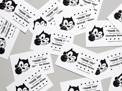 """Business"" Card business card felix the cat thermography"