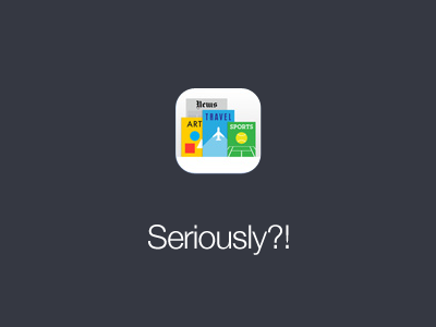 iOS 7 Newsstand Icon ios 7 ios7 newsstand icon wtf ios 7
