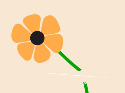 Does anyone know a good handyman? slice cut yellow flower black vector typography minimal illustrator illustration icon flat design clean
