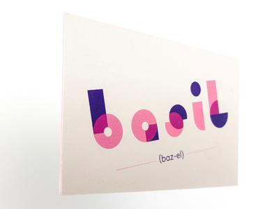 Basil geometric purple pink