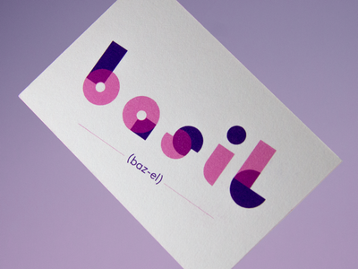 Basil's Fun Business Card blog art effects adobe abstract 2d colorful card business card app icon ux typography type branding vector ui logo design illustration