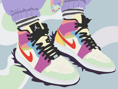 nikes on my feet nike shoes minimal vector illustration design