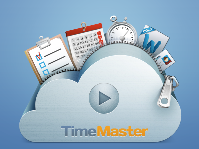 Icon for cloud organizer icon cloud organizer time calendar task desk task manager word doc video zip