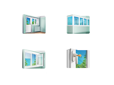 Windows Icons windows window balcony loggia door key glass