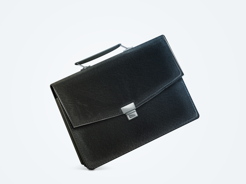 Briefcase briefcase leather black business steel icon case document elegance richness seam