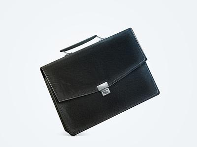 Briefcase briefcase leather black business steel icon case document elegance richness seam