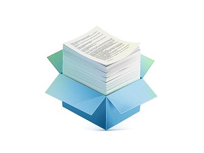Box paper box documents
