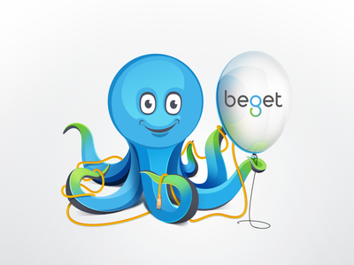 octopus toy balloon mascot cable beget sprut octopus