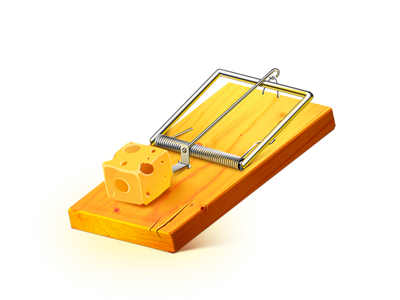 Mousetrap trap free plank cheese mouse trap mousetrap