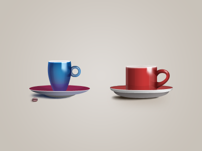 Coffee cups coffee cup icons icon red blue 128
