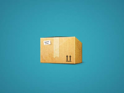Box paper box carton post blue yellow dispatch icon