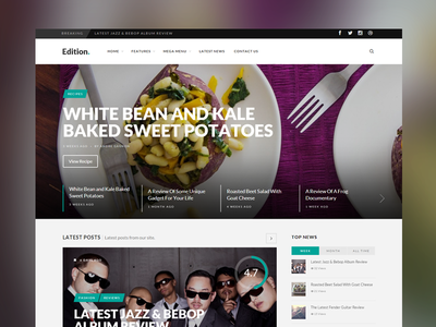 Edition Home web design website news blog responsive minimal theme wordpress slider