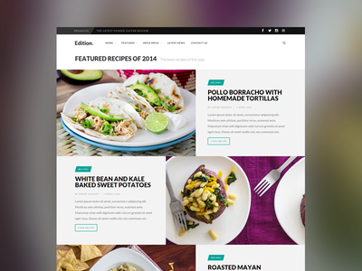Edition Roundup Page web design webdesign website news wordpress theme minimal posts