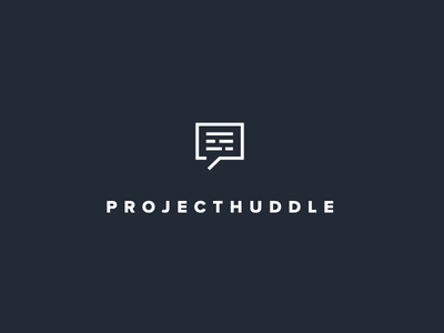 ProjectHuddle Logo vector flat logo design icon branding identity logo