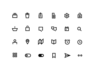 Free Icon Pack: Minima Line Icons illustrator sketch paper clip chat clipboard ux ui line free pack icon icon pack