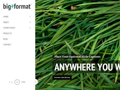 BigFormat Wordpress Theme wordpress theme minimal website web design photography
