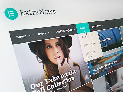 ExtraNews Wordpress Theme minimal news theme web design website wordpress grid responsive