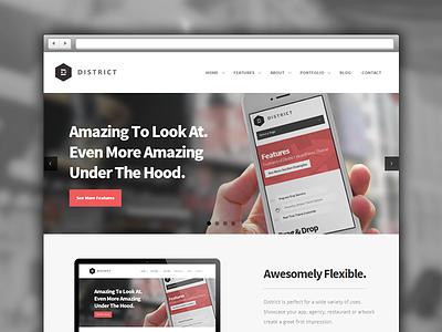 District WordPress Theme minimal web design wordpress website theme responsive flat bold webdesign