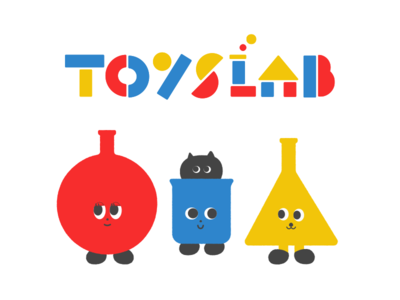 TOYSLAB graphic character illustration typography logo toyslab