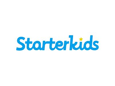 Starter kids ci vi typography logo graphic branding brand identity starter kids