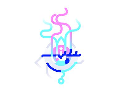 The Window to the Soul minimal minimalist pink blue illustration digital illustration digital artwork digital art abstract bright somber sorrowful sad exhausted tear teardrop eyeball eye