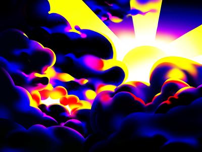 Sunset digital illustration abstract yellow red blue digital art illustration landscape illustration skyline landscape sunny cloud clouds sunsets sunrise sunset