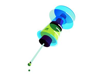 syringe vector disease vaccine medicine medical syringe inkscape vector illustration digital illustration green blue minimal abstract illustration