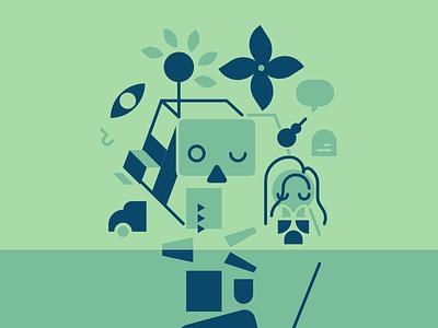 Petscop minimalist characters art digital art illustration fanart internet series newmaker petscop