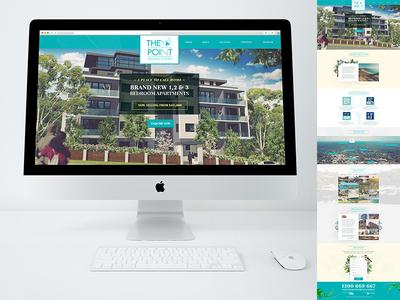 The Point Website Design real estate property development web design graphic design branding concept ux ui website