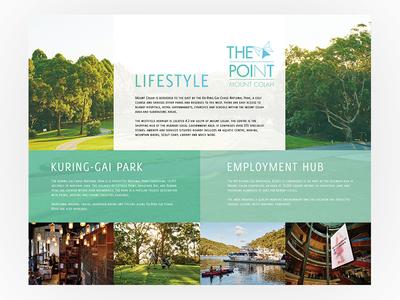Internal Wall Display Design lifestyle real estate property development branding graphic design