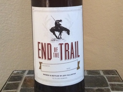 End of the Trail (home brew label) packaging label beer