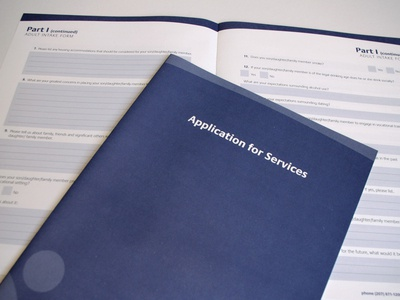 Spruwink Application corporate design collateral branding forms application