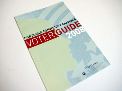 Portland Community Chamber Voter Guide 2008 guide vote brochure