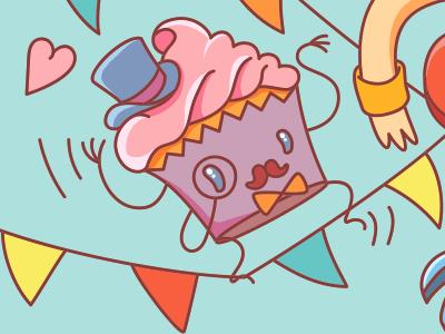 Hello mr Muffin dandy illustration vector illustrator character muffin