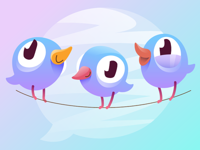 Early Birdy bubble message illustration bird character vector