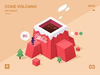 Coke volcano