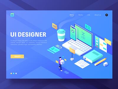 The Designer's Table-Web 2.5d blue zm hiwow table designer ui web