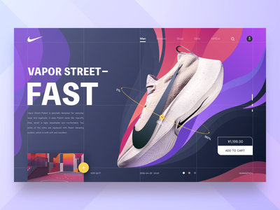 Nike Web-2 air app shopping shot hiwow web ui nike
