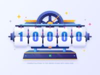 Clock - 10000 followers!