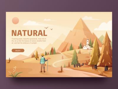 Nature-Web-3 ui,illustrations,sun web nature autumn tree hiwow