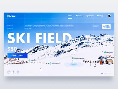 Web-Ski Field tnf skier ticket bug blue ued ui hiwow web ski field