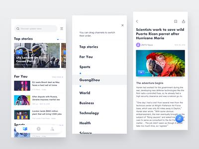 News App 1 time picker top ui new app news