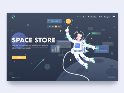 Space store astronaut bug star web ui store space