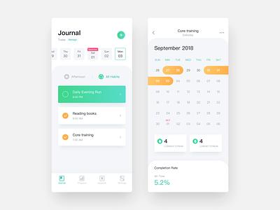 Habit Tracker App app uidesign habit tracker app