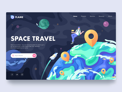 Space Travel planet travel earth web space space travel