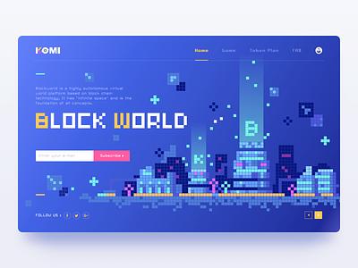 Block chain_Web city pixel ui komi web