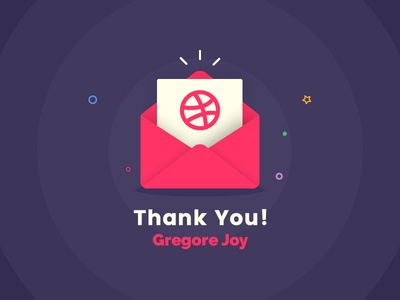 Thanks for the invite! fantastic creative happy poster design theme gallery colors cards funny dribble thanks