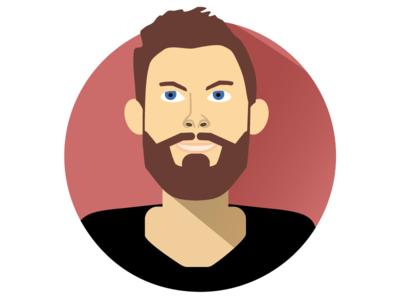Flat Self Portrait Illustration