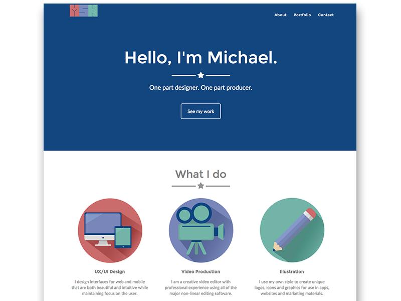 Portfolio site for dribbble